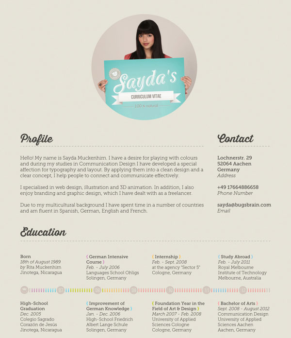 40 Creative CV Resume Designs Inspiration 2014 Web  Graphic - great resume designs