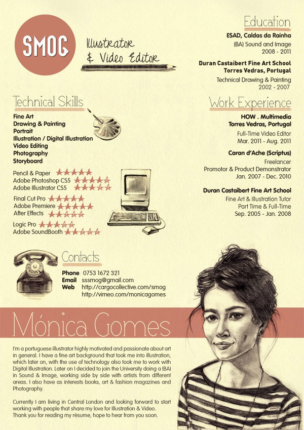 great design resume examples