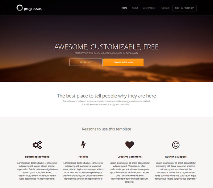 17 Free Responsive Bootstrap HTML Website Templates Web  Graphic - nice templates