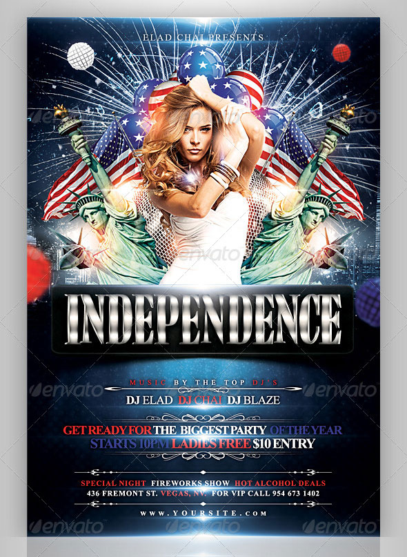 16 Amazing Independence Day PSD Flyer Templates \u2013 Web  Graphic