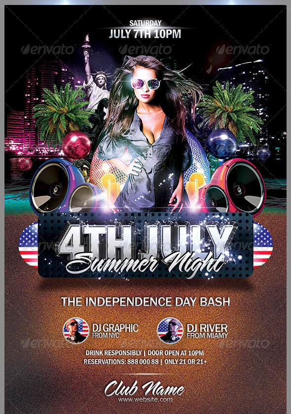16 Amazing Independence Day PSD Flyer Templates Web  Graphic