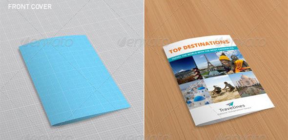 41 PSD Brochure Mock-up Templates Web \ Graphic Design Bashooka - gate fold brochure mockup