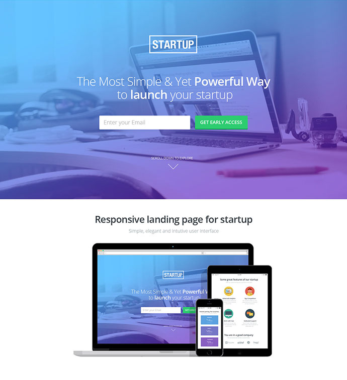 34 Responsive Landing Page Templates That Convert \u2013 Web  Graphic