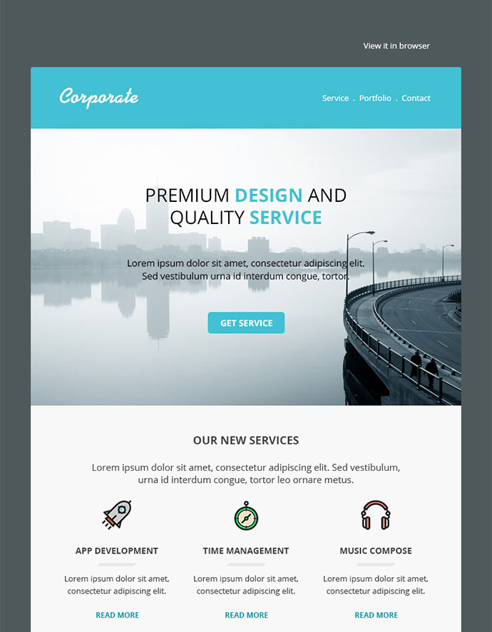25 Best Responsive Email Templates Web Graphic Design