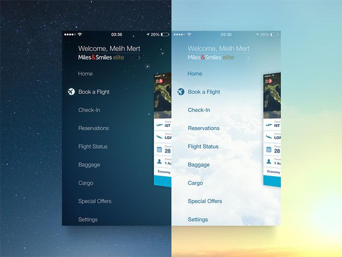 30 brilliant mobile navigation menu design concepts