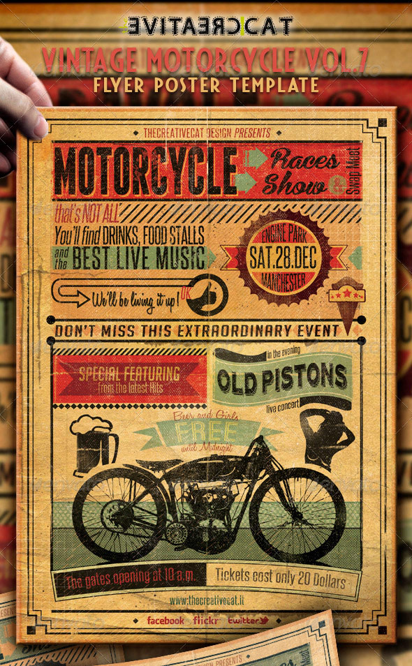 25 Really Awesome Typography Flyer PSD Templates Web  Graphic