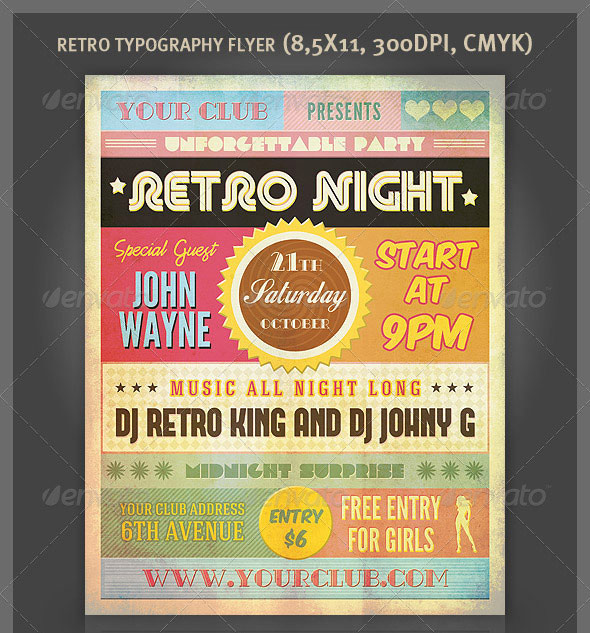 25 Really Awesome Typography Flyer PSD Templates Web  Graphic - discount flyer template