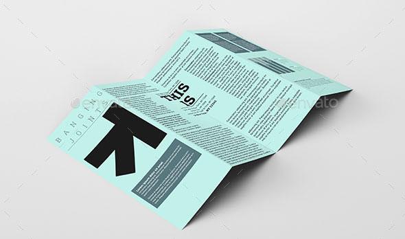 52 Best PSD Mock-up Templates Web \ Graphic Design Bashooka - gate fold brochure mockup