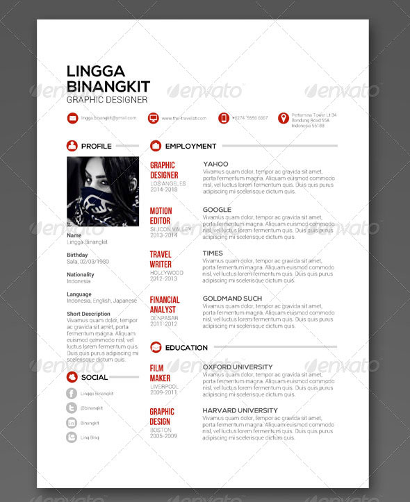 25 PSD Resume Templates That Will Make Recruiters  - clean resume templates