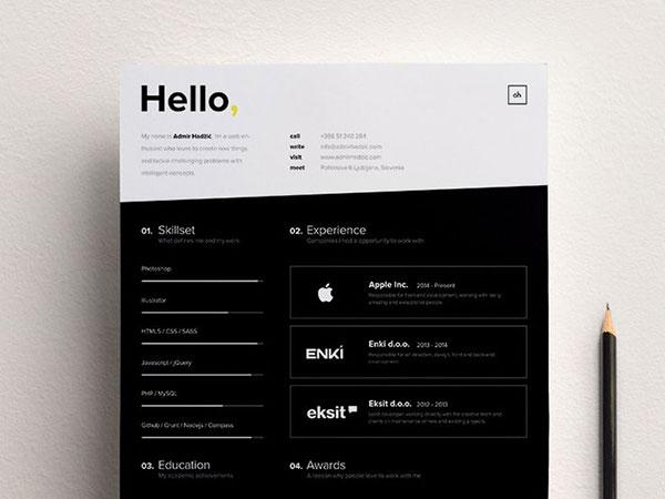34 Outside-the-box CV Resume Designs Web  Graphic Design Bashooka - Resume Design