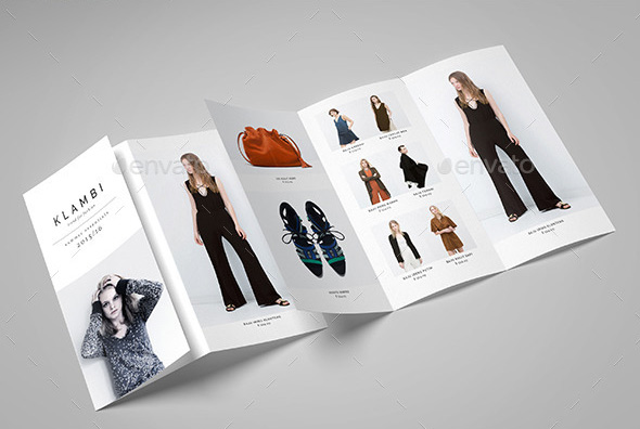 A4 Tri Fold Brochure Template  Tri Fold Brochure Template - fashion design brochure template