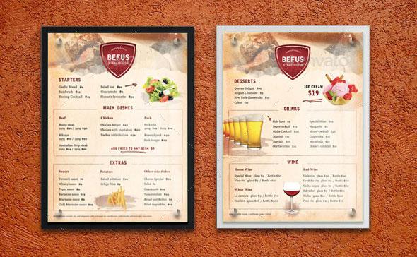 40 Effective PSD Restaurant Menu Design Templates \u2013 Web  Graphic