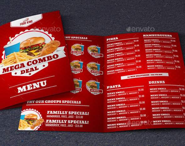 40 Effective PSD Restaurant Menu Design Templates Web  Graphic - free food menu template