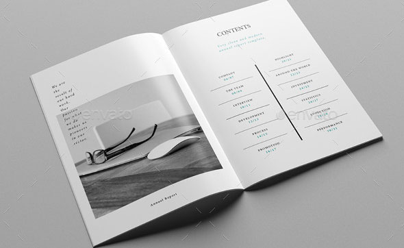 40 Best Corporate InDesign Annual Report Templates Web  Graphic - free indesign template