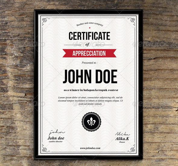 35 Best Certificate Template Designs Web  Graphic Design Bashooka - creative certificate designs