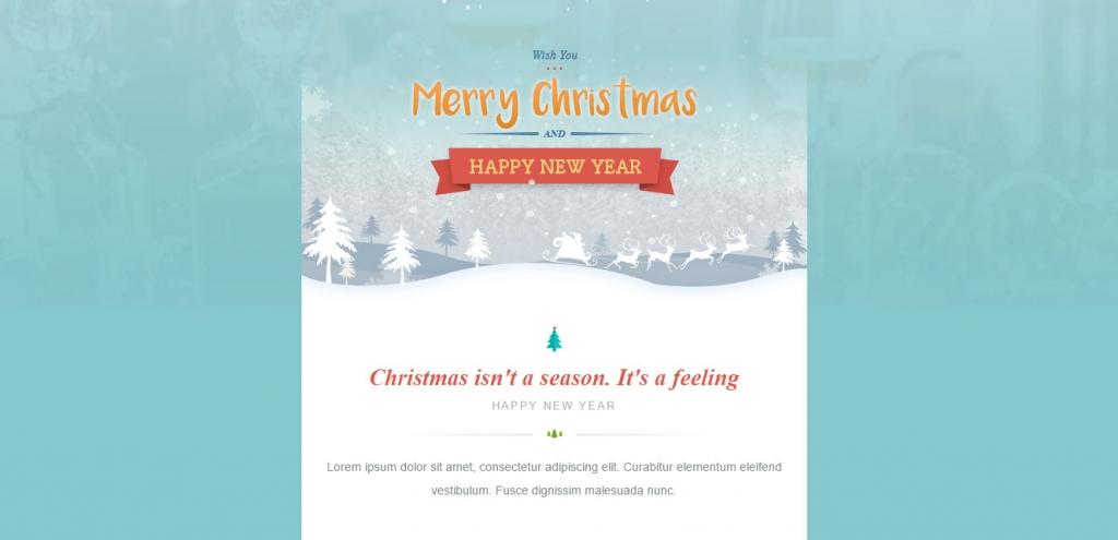 20 Wonderful Christmas  New Year Email Templates \u2013 Web  Graphic