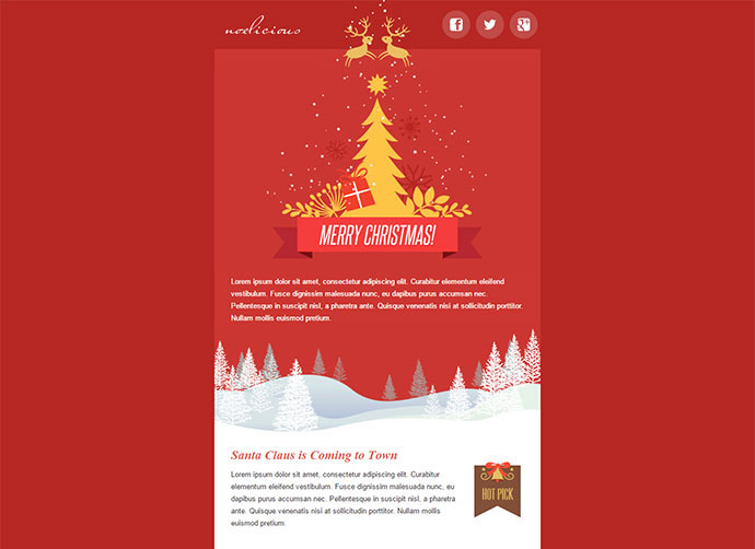 20 Wonderful Christmas  New Year Email Templates Web  Graphic - merry email template
