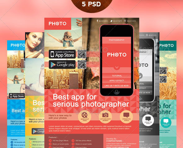 30 Effective Web \ Mobile Apps Flyer PSD Templates Web \ Graphic - advertising flyer template