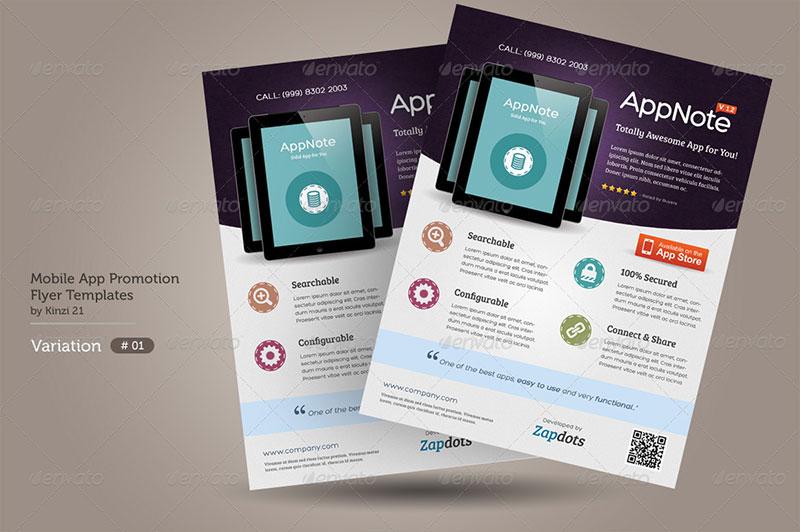30 Effective Web  Mobile Apps Flyer PSD Templates Web  Graphic - promotion flyer