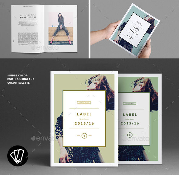 40 Beautiful InDesign Fashion Brochure Templates Web  Graphic