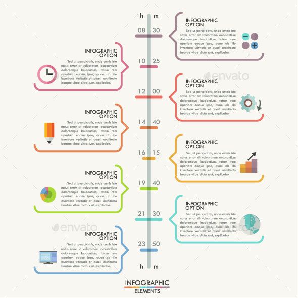 25 Amazing Timeline Infographic Templates Web  Graphic Design - timeline template