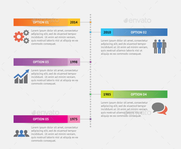 25 Amazing Timeline Infographic Templates \u2013 Web  Graphic Design on