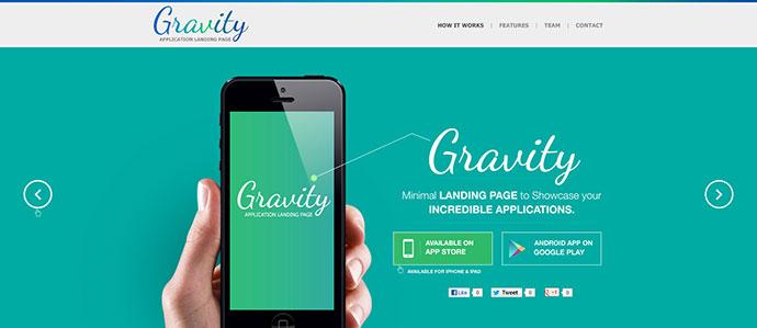 20 Best HTML Mobile App Landing Page Templates Web  Graphic - app landing page template