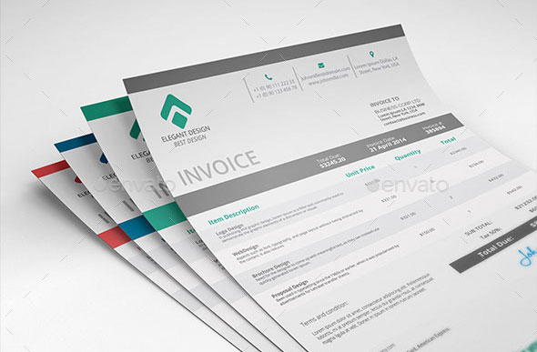 37 Best PSD Invoice Templates For Freelancer Web \ Graphic - graphic design invoice sample