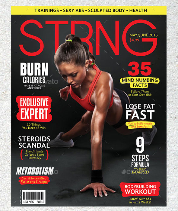 25 Awesome Sport Magazine Cover and Layout Templates \u2013 Web  Graphic