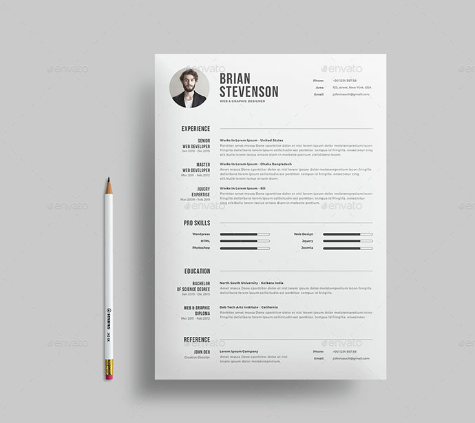 clean cv template download