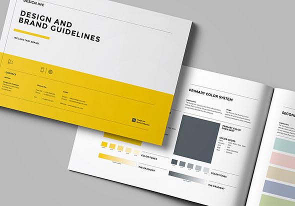 25 Best Brand Guideline Design Templates \u2013 Web  Graphic Design on