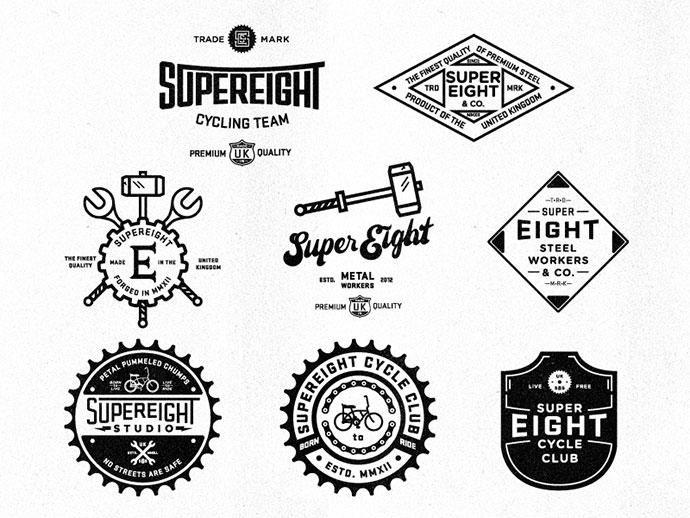 40 Excellent Typographic Logo Badge Designs Web  Graphic Design