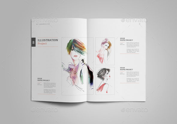25 Really Awesome Portfolio Brochure Templates \u2013 Web  Graphic