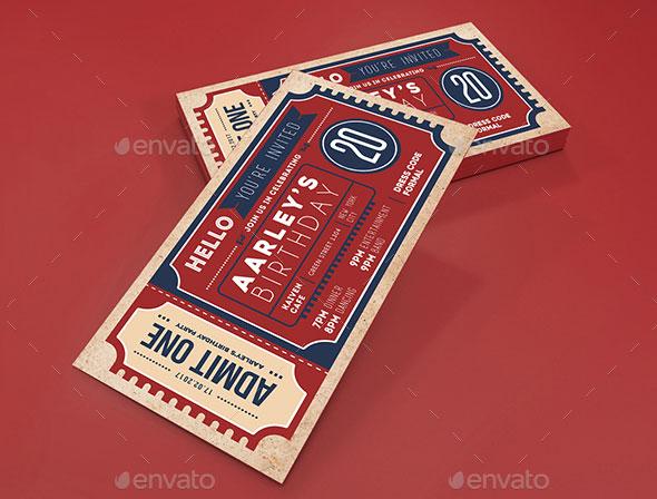 25 Awesome PSD Ticket Invitation Design Templates \u2013 Web  Graphic