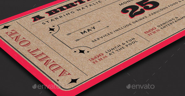 25 awesome ticket invitation design templates