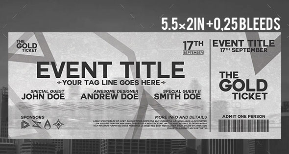 25 Awesome Ticket Invitation Design Templates Web  Graphic Design