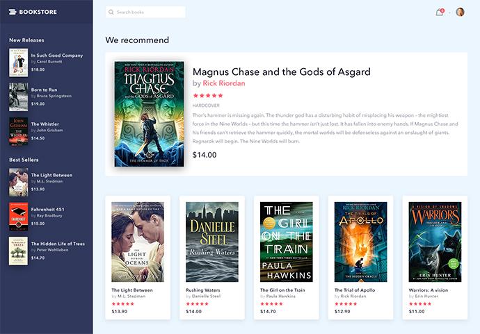 online bookstore website design