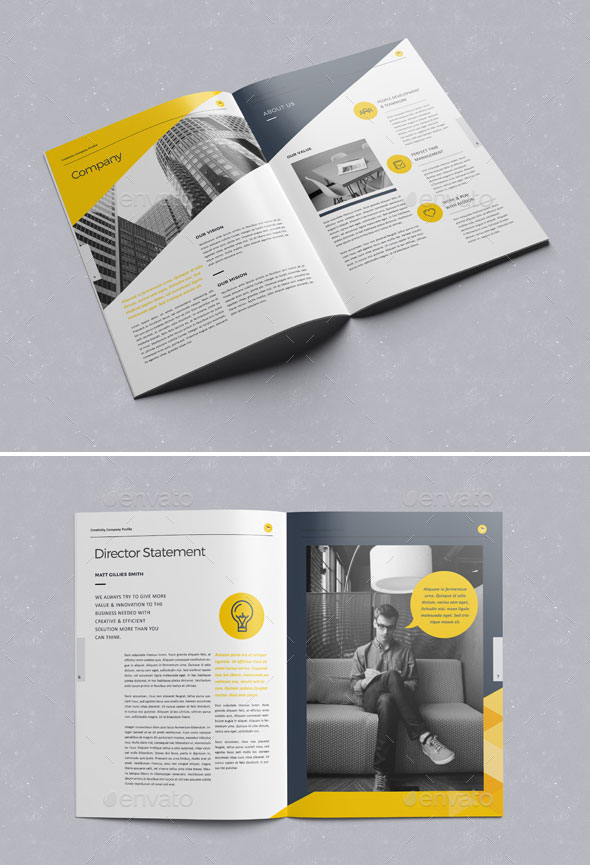 30 Awesome Company Profile Design Templates Web \ Graphic Design - company profile