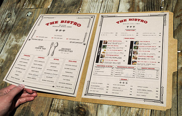 30 Modern Retro  Vintage Restaurant Menu Templates Web  Graphic