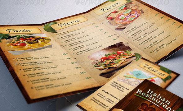 30 Modern Retro  Vintage Restaurant Menu Templates Web  Graphic - Sample Pizza Menu Template