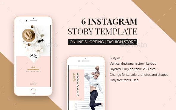 25 PSD Templates To Create Stunning Instagram Stories \u2013 Web