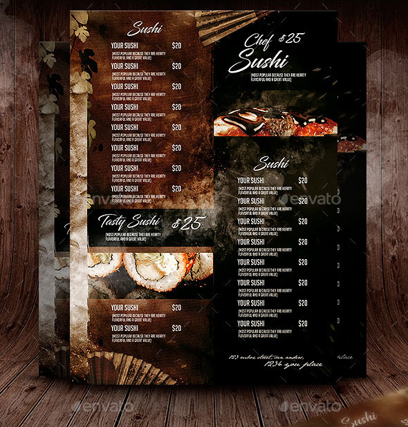 50 Tempting Restaurant Menu Designs 2018 \u2013 Web  Graphic Design on
