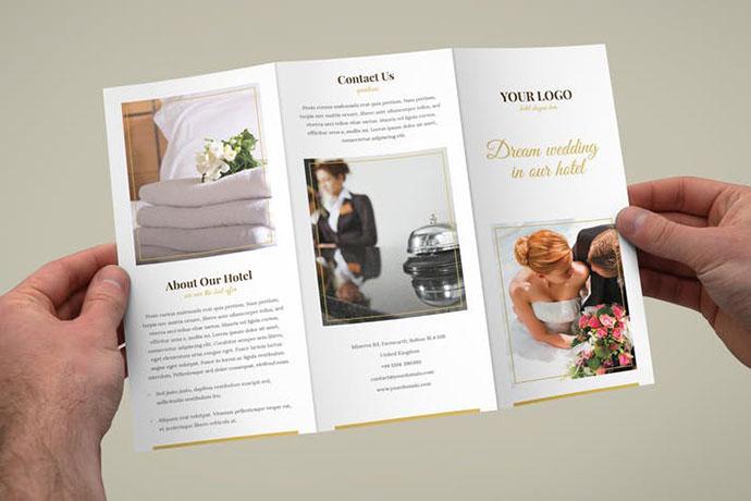 20 Stunning Minimal Tri-fold Brochure Templates \u2013 Web  Graphic