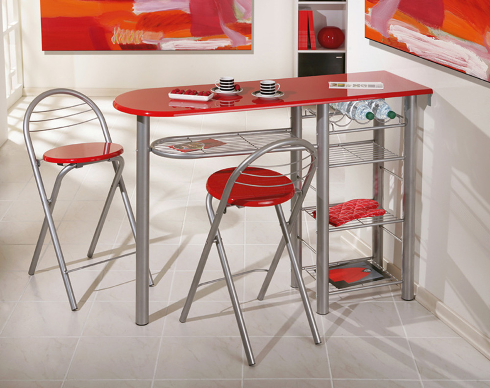 Bar Cuisine Ensemble Table Bar 2 Tabourets Brigitte