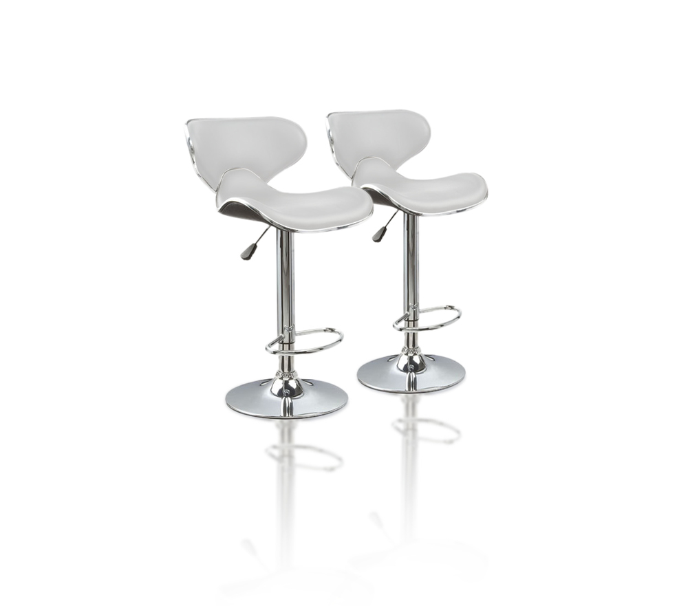 Charly Lot De 2 Tabourets De Bar Noirs Lot De 2 Tabourets De Bar Joy Coloris Blanc Prix Pas Cher En