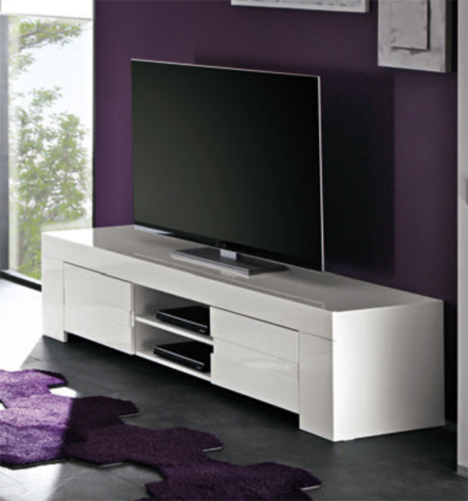 Magasin Meuble Tv Design Meuble Tv Livorno Laque Blanc
