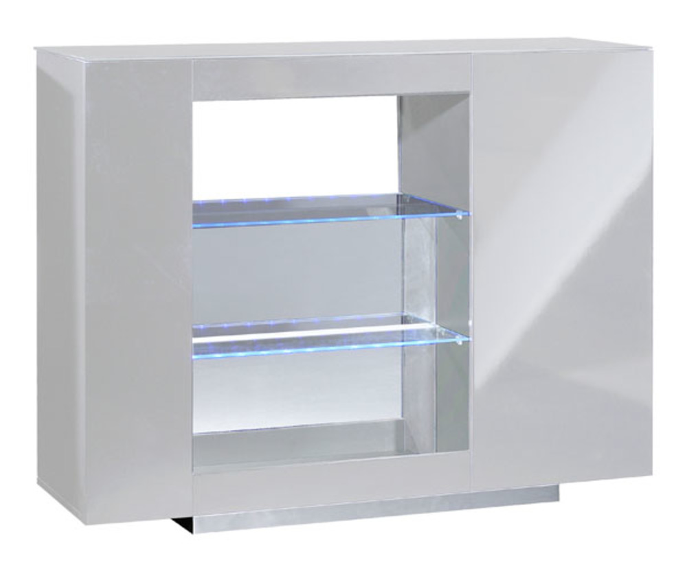 Meuble De Bar Design Bar Vertigo Blanc Brillant