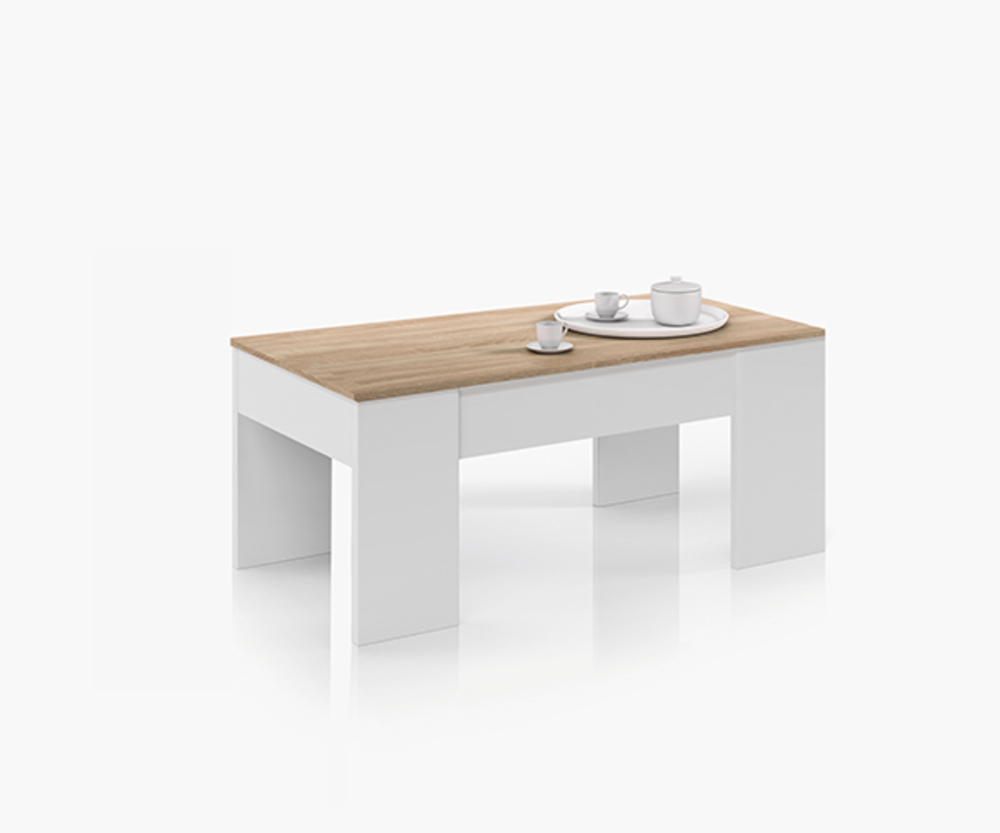 Table Basse Relevable Blanc Laqué Table Basse Relevable Didou