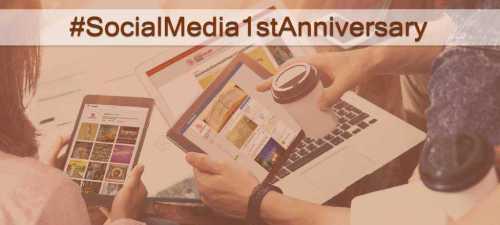 Un an pe social media