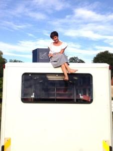 Margaux Segré sur son camion